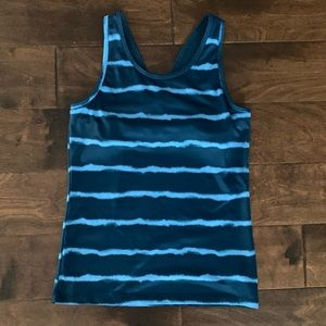 (3/$20) Champion Teal Workout Tank w/ Built in Bra